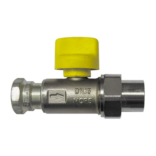 Ball Valve for connecting devices, straightway 2362