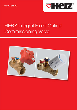 Fixed Orifice <br>Commissioning Valve